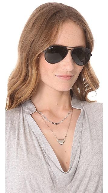 Ray-Ban New Polarized Aviator Sunglasses