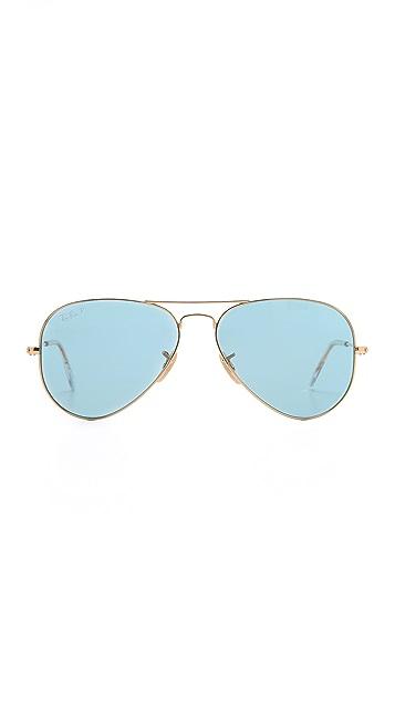 Ray-Ban Polarized Crystal Aviator Sunglasses