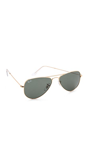 Ray-Ban Shrunken Aviator Sunglasses at Shopbop