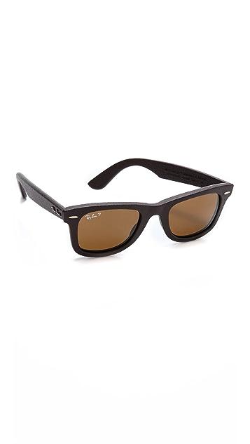 Ray-Ban Polar Leather Wayfarer Sunglasses