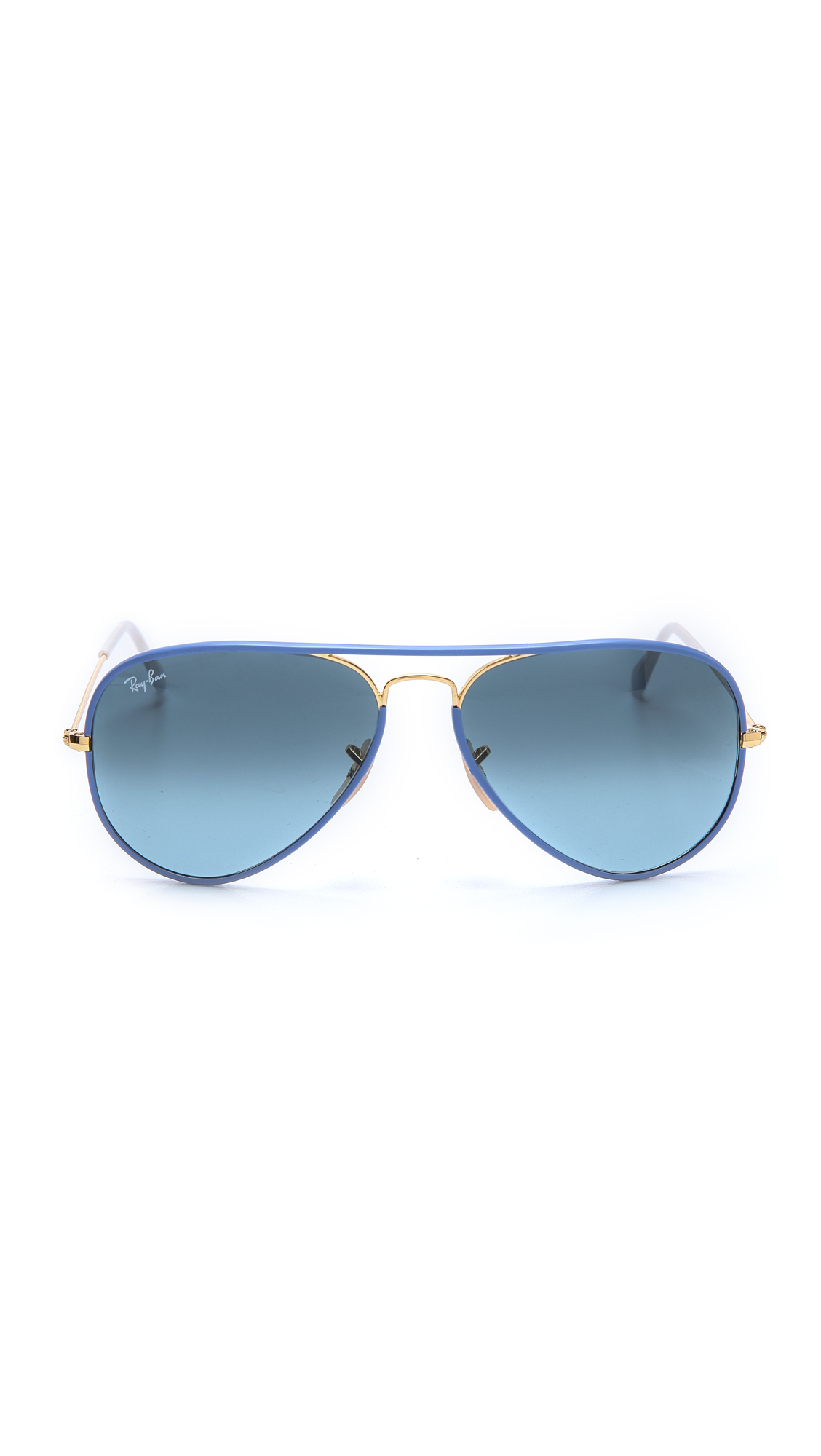 ray ban aviator lente azul degrade