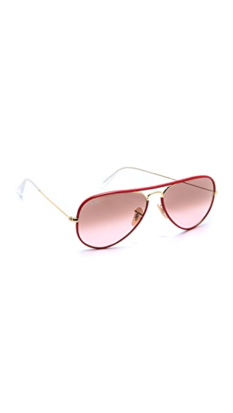 Ray-Ban Acetate Covered Aviator Sunglasses