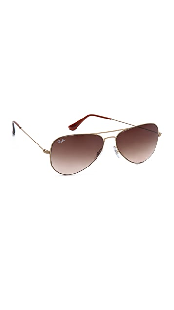 Ray-Ban Highstreet Matte Aviator Sunglasses
