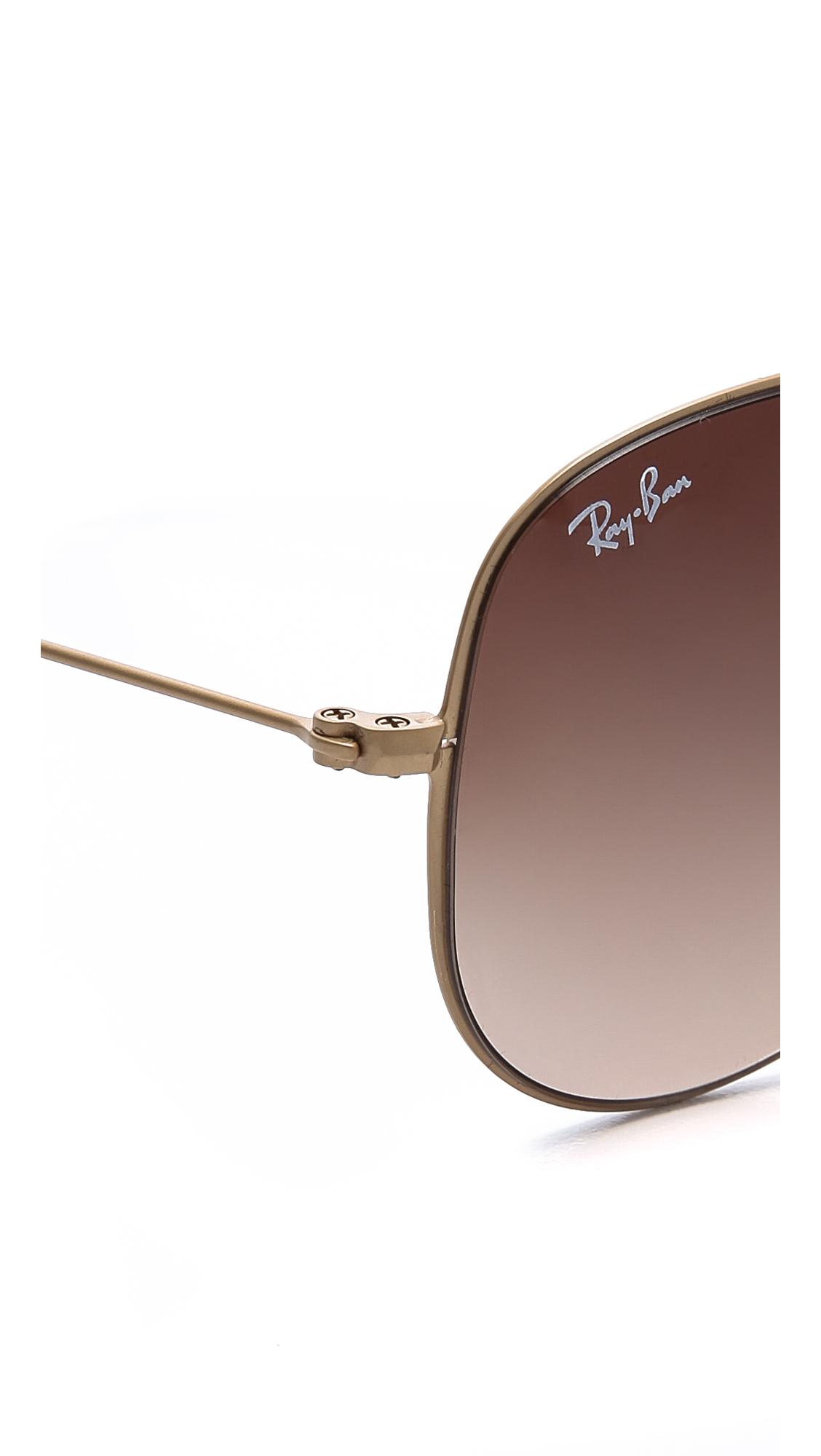 f1d40f4742dc86 Ray-Ban Highstreet Matte Aviator Sunglasses   SHOPBOP