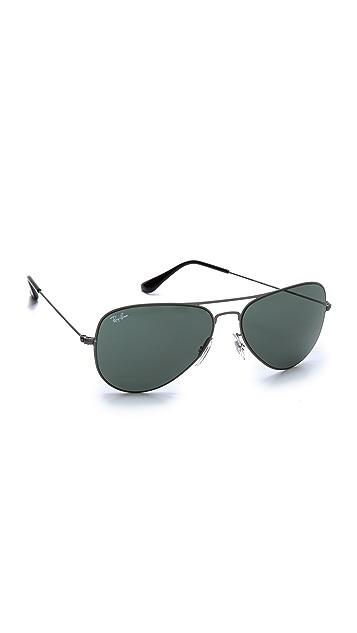 Ray-Ban Highstreet Matte Aviator Sunglasses