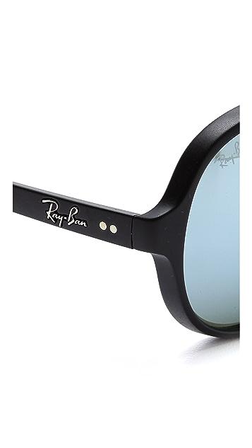 Ray-Ban Matte Mirrored Cats 5000 Sunglasses