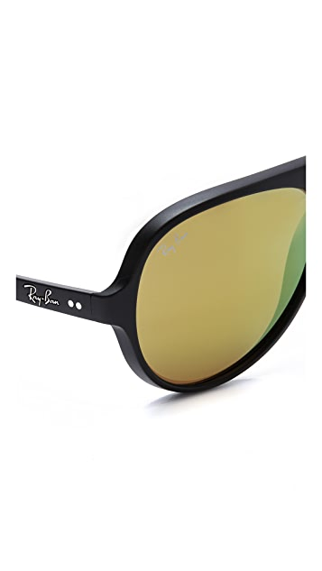 Ray-Ban Matte Mirrored Cats 5000 Sunglasses