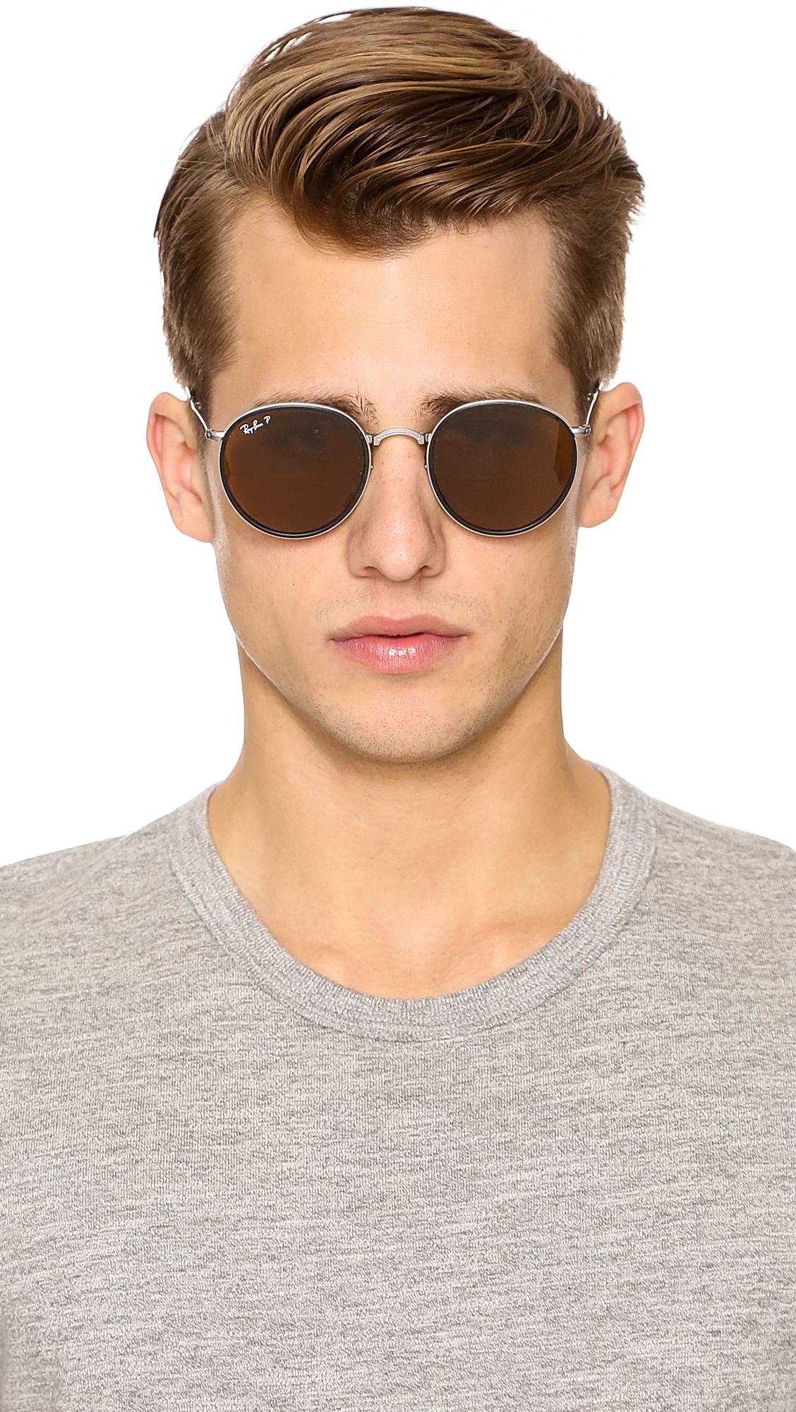 Ray Ban Silver Round