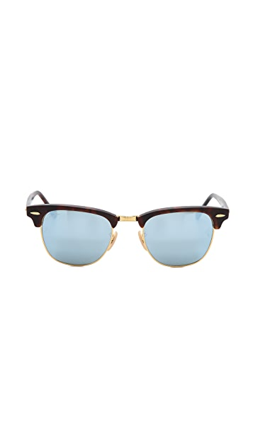Ray-Ban Mirrored Clubmaster Sunglasses