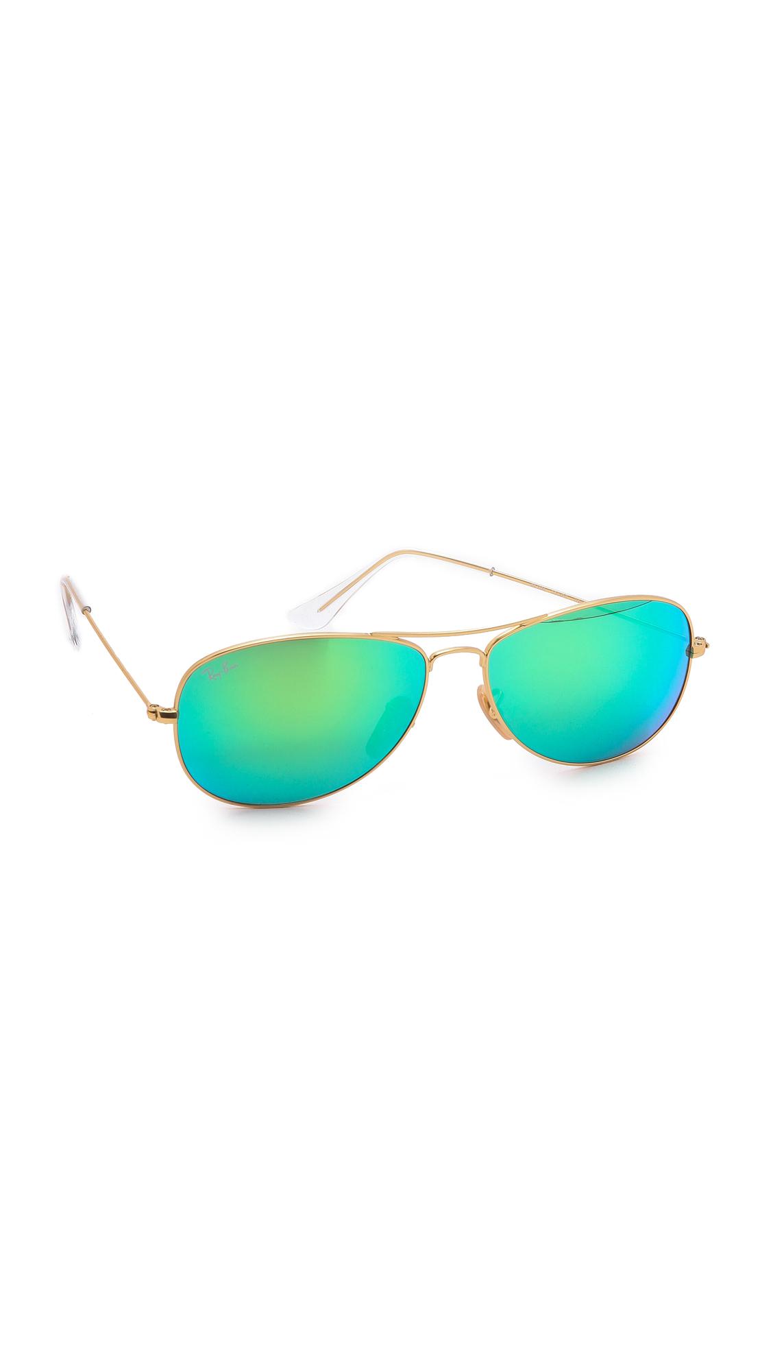 mirrored aviator sunglasses ray ban  Ray-Ban Mirrored Shrunken Aviator Sunglasses