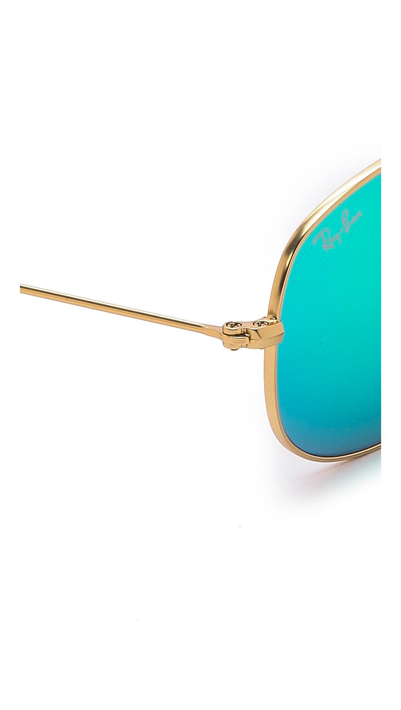 Ray-Ban Mirrored Shrunken Aviator Sunglasses | SHOPBOP