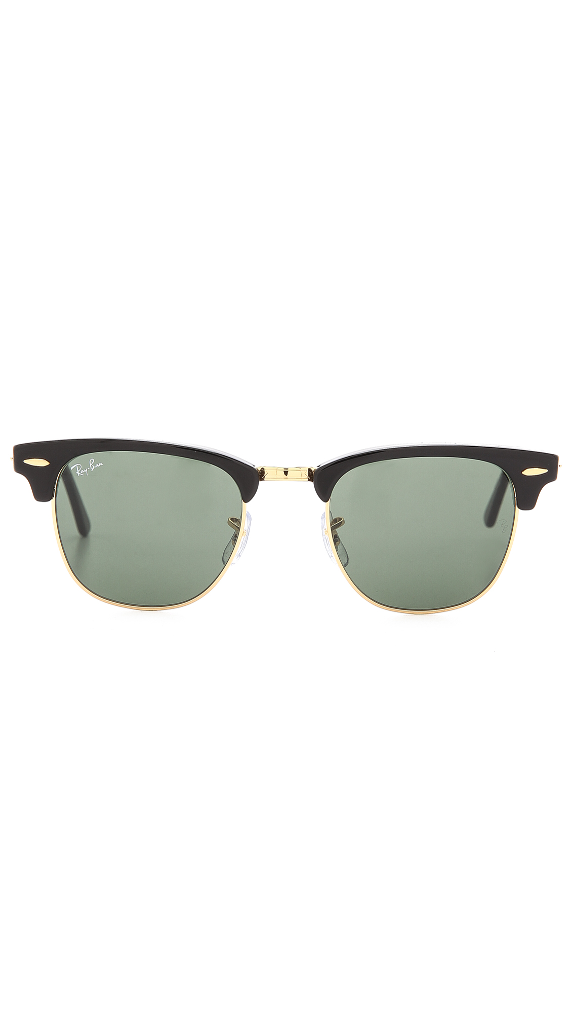 Shop Ray Ban Clubmaster Classic Sunglasses In BlackGold