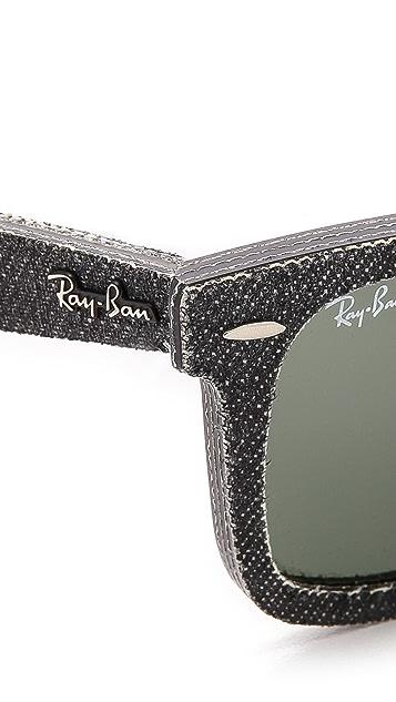 Ray-Ban Pressed Denim Wayfarer Sunglasses