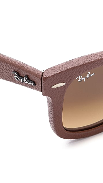 Ray-Ban Leather Wrapped Wayfarer Sunglasses