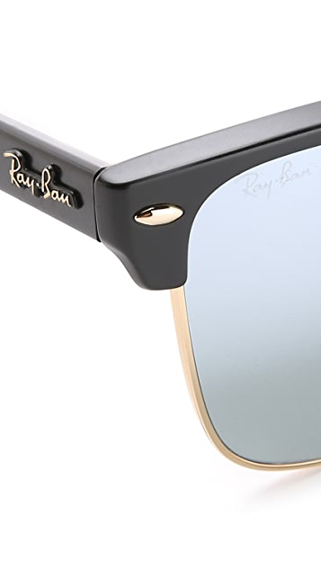 Ray-Ban Clubmaster Sunglasses with Flash Lens