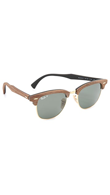 Ray-Ban Wood Clubmaster Sunglasses
