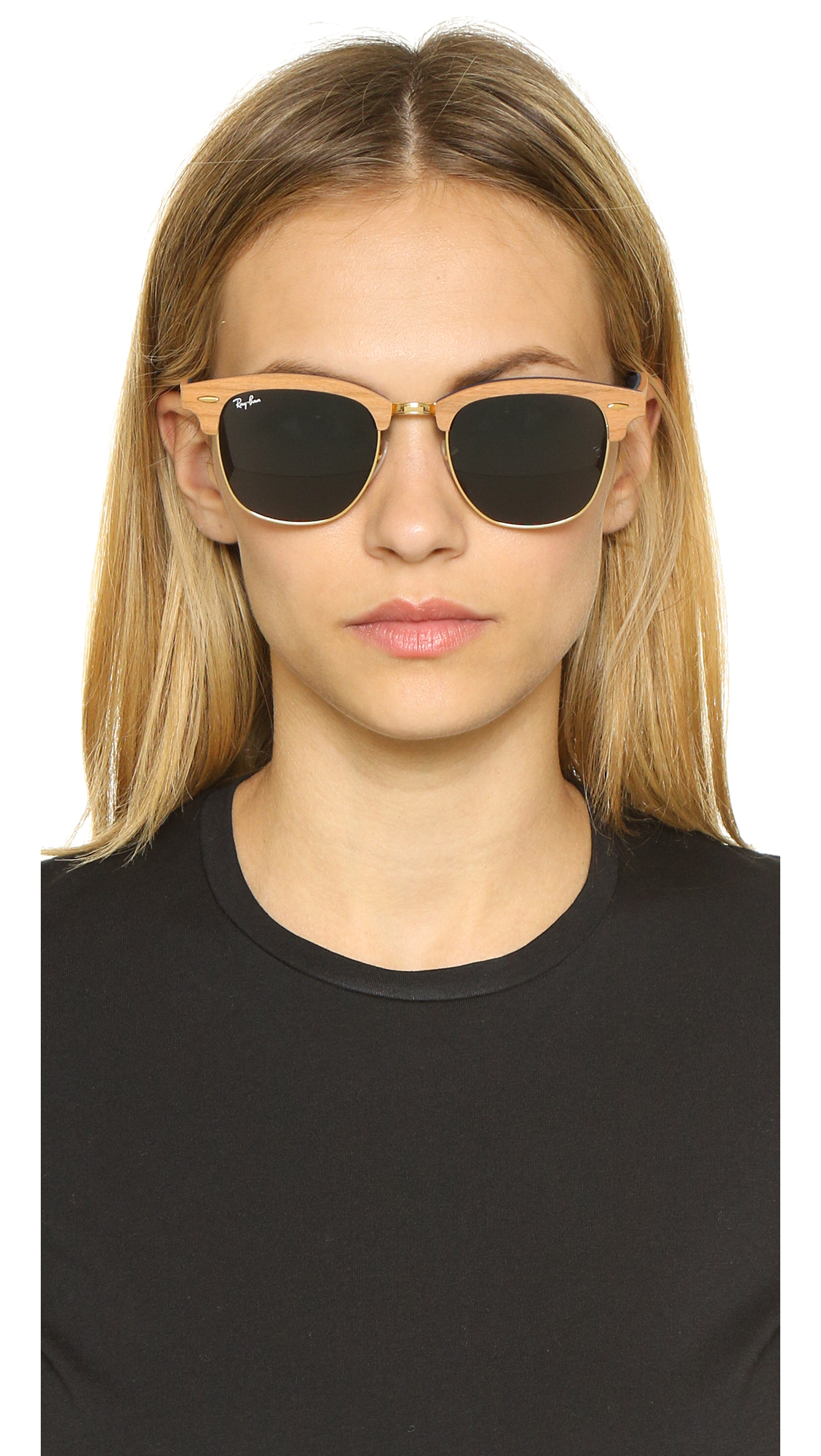 Ray-Ban Clubmaster Wood Sunglasses   SHOPBOP fa4a87c6b8