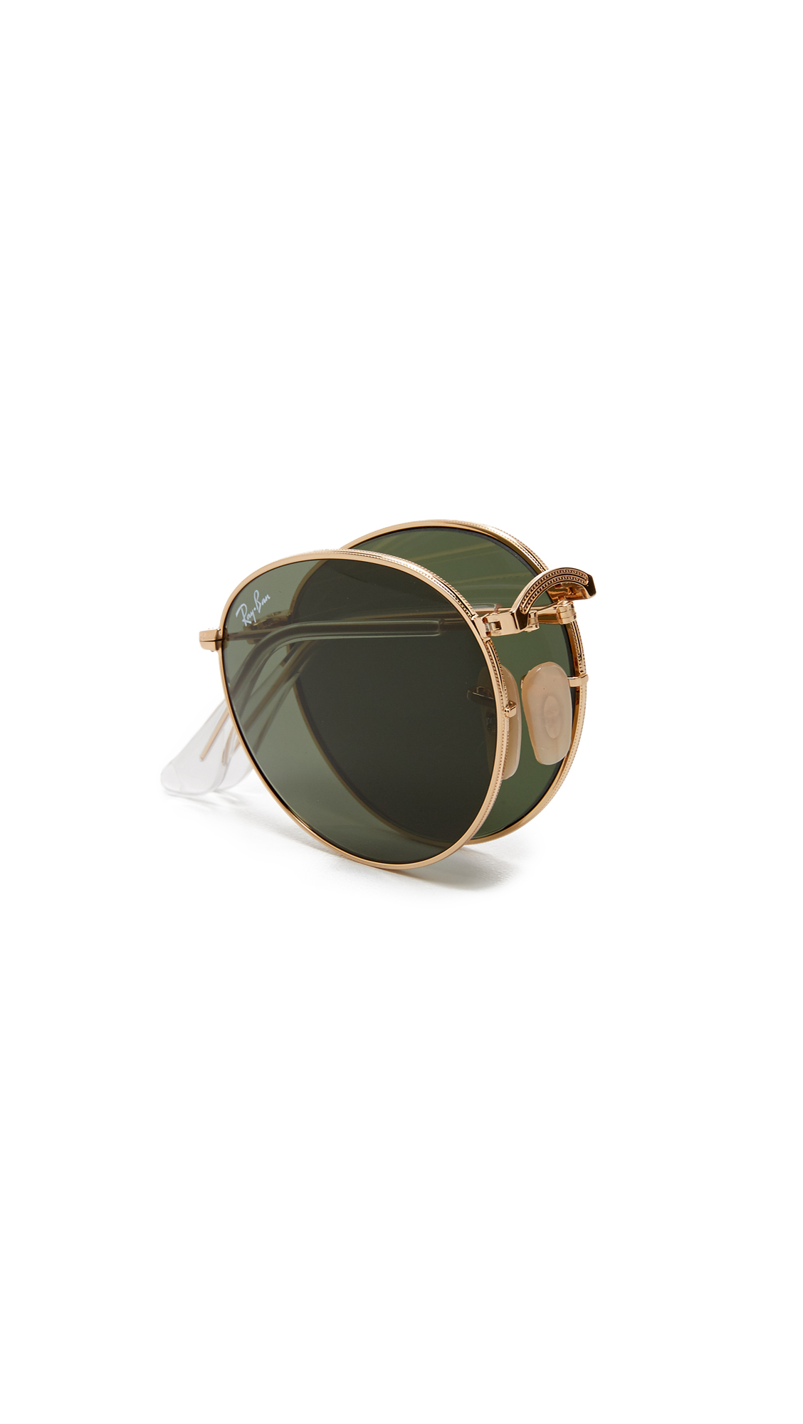 6c5a175b7 Ray-Ban RB3532 Icons Round Sunglasses | SHOPBOP