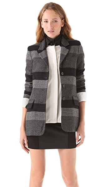Richard Chai Love Long Three Button Blazer