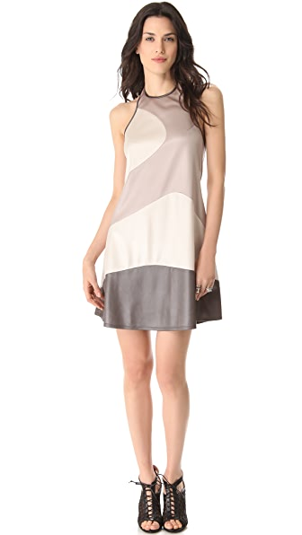 Richard Chai Love Combo Curved Seam Dress