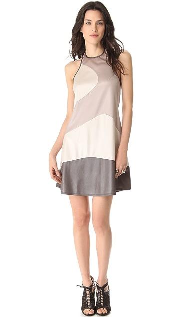 Richard Chai Love Combo Curved Seam Dress