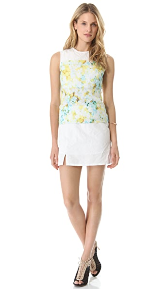 Richard Chai Love Layered Floral Sleeveless Dress