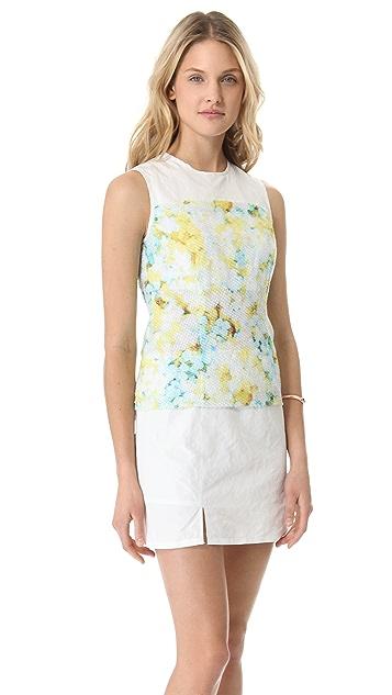 Richard Chai Love Layered Floral Sleeveless Dress