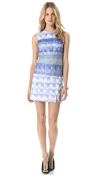 Richard Chai Love Digital Stripe Sleeveless Dress