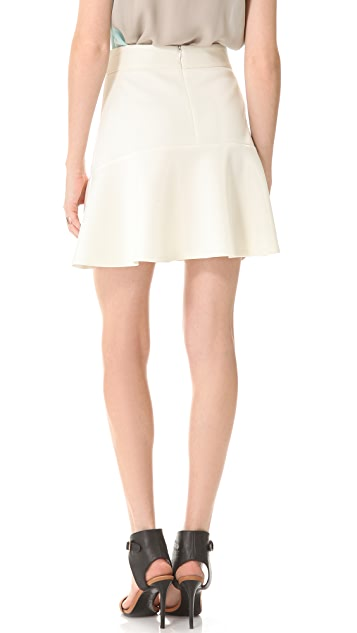 Richard Chai Love Neoprene Flounce Mini Skirt
