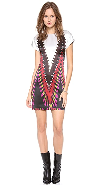 Rodarte Printed Tie Dye T-Shirt Dress