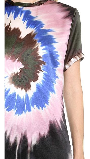 Rodarte Tie Dye Silk Top