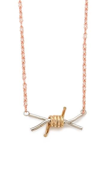 Rodarte Barbed Wire Pendant Necklace