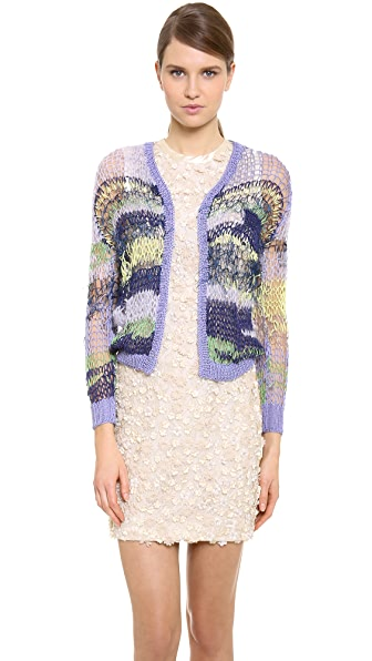 Rodarte Cropped Open Knit Cardigan