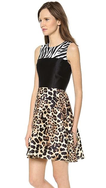 Rodarte Print Silk Dress