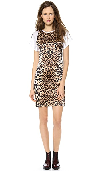 Rodarte Leopard Silk T-Shirt Dress