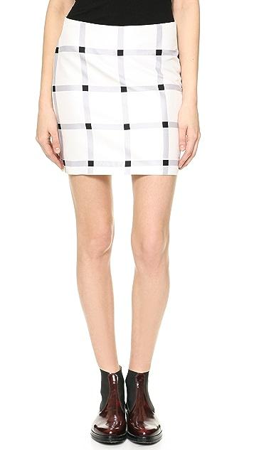 Rodarte Printed Silk Miniskirt