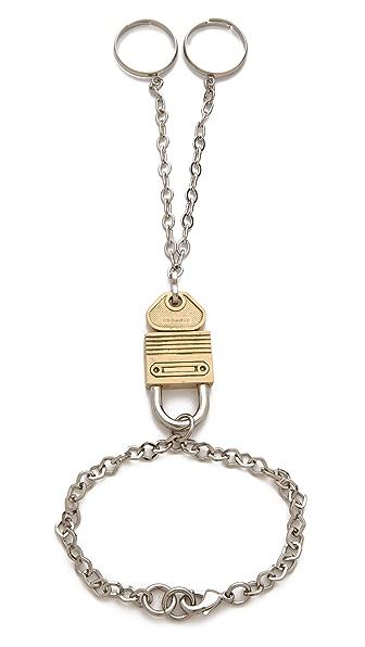 Rodarte Padlock Ring Bracelet