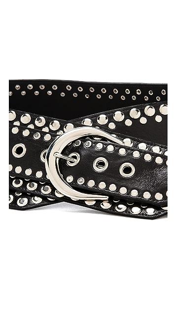 Rodarte Studded Leather Belt