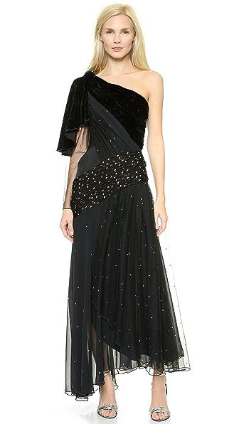 Rodarte Swarovski Crystal Tulle Gown