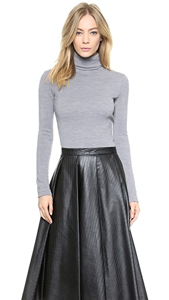 Rodarte Wool Jersey Turtleneck