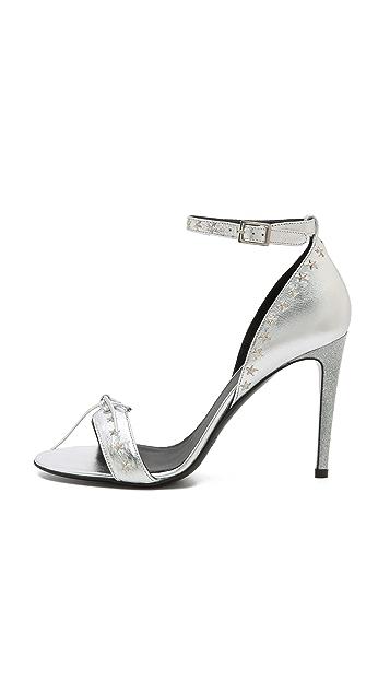 Rodarte Glitter Heel Star Stud Sandals