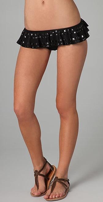 Red Carter Media Star Bikini Bottoms