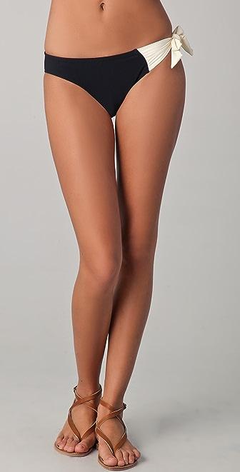 Red Carter Tie Bikini Bottoms
