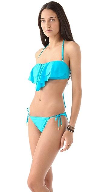 Red Carter Studio 54 Bandeau Bikini Top