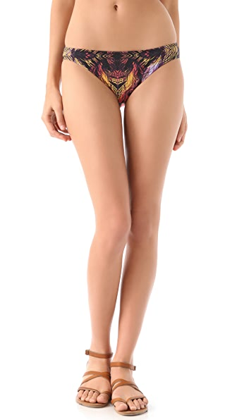 Red Carter Birds of Paradise Bikini Bottoms