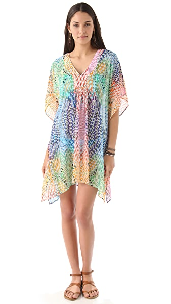 Red Carter Disco Ball Cover Up Dress