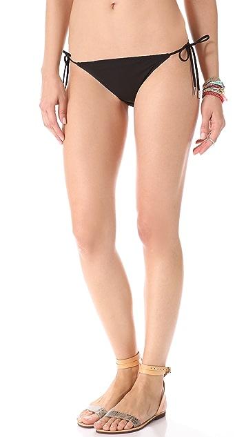 Red Carter Layer Cake Bikini Bottoms