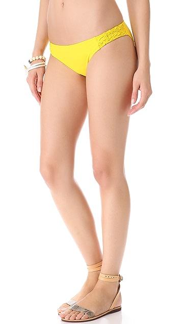 Red Carter Cross Weave Bikini Bottoms