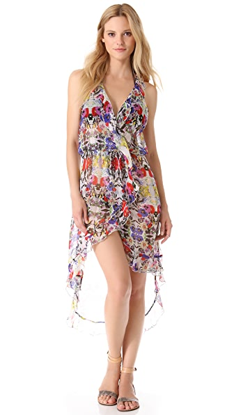 Red Carter Floriculture Cover Up Dress