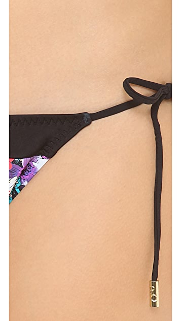 Red Carter Floriculture String Bikini Bottoms